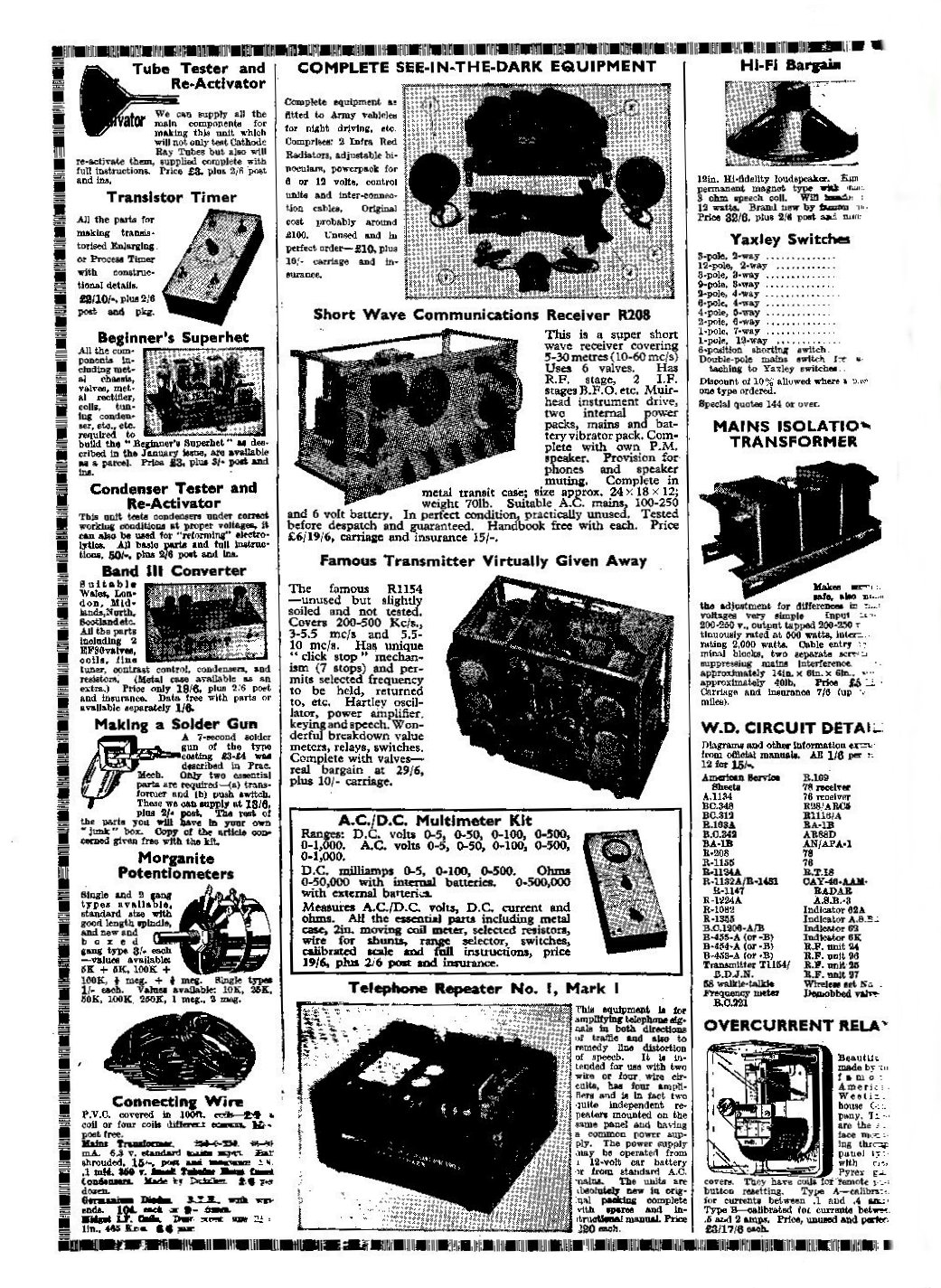 Vintage Radio and Electronics  Advertisements from